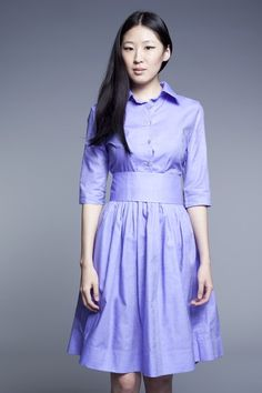 Custom Made Shirtwaist Cotton Dress by Mrs.Pomeranz by mrspomeranz