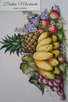 Cool canvas art diy acrylic paintings 68 Ideas in 2019 Kids Canvas Art, Diy Canvas, Canvas Wall Art, Fruit Painting, Fabric Painting, Art Drawings For Kids, Easy Drawings, Fruit Art, Watercolor Art