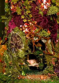 Fairy House Plumeria Magic Woodland by WoodlandFairyVillage