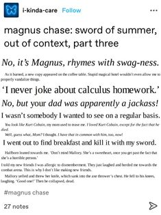 Percy Jackson Characters, Percy Jackson Quotes, Percy Jackson Books, Percy Jackson Fandom, Solangelo, Percabeth, Magnus Chase Books, Alex Fierro, Jandy Nelson