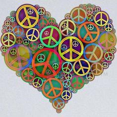 peace & love heart