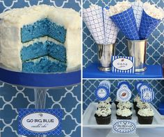 college football party - adapt to your teams colors. Maybe also guys birthday party idea?
