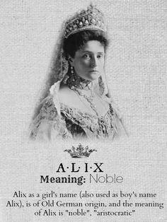 ALIX.....Empress Alexandra Feodorovna of Russia......Princess Alix of Hesse and by Rhine