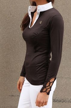 LOVE THIS SHIRT!! Alexandra Ledermann  Lucky chocolate shirt  www.iconadeironchi.com