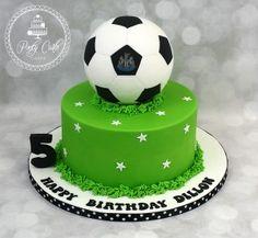 Football Birthday Cake. - http://pontycarlocakes.com/football-birthday-cake…