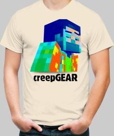 Minecraft Art, Color Print, Printed Shirts, How To Get, Guys, Logos, Mens Tops, Fashion, Moda
