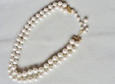 Vintage Faux Pearl Costume Jewelry Double by VikisVarietyCraft, $9.00