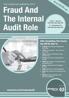 Fraud And The Internal Audit Role - This event is particularly targeted at internal auditors in organisations without a dedicated fraud team, as they have to take a much more significant role in the prevention, detection and investigation of fraud. List Of Courses, Internal Audit, Training Courses, Investigations, Management, Challenges, Organizations, Study