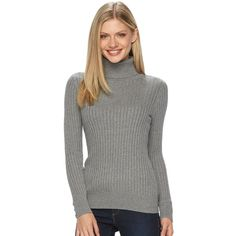 Women's Elle™ Cold-Shoulder Scoopneck Sweater ($50) ❤ liked on ...
