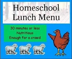 """(Home)school lunch menu-from """"Large Family Logistics"""""""