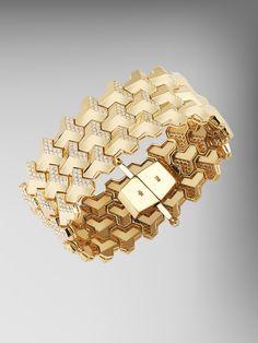 Yellow Gold Brillantissimo Bracelet with Diamonds Art Deco Jewelry, High Jewelry, Luxury Jewelry, Modern Jewelry, Gold Jewelry, Jewelry Design, Jewellery, Bracelets For Men, Bangle Bracelets