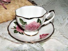 Signed Vintage Queen Anne Royal Roses 1950s