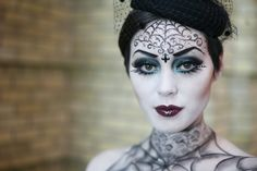 easy ghoul costume | Cool Halloween Costume Ideas This would be a good makeup for Bay