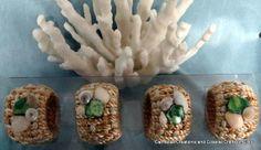 Nautical napkin ring holders by CarmelasCoastalCraft on Etsy, $20.00
