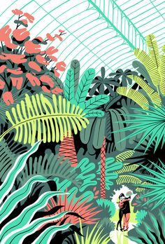 In the Greenhouse by Vincent Mahé, via Behance (Can't help but notice the glass ceiling)