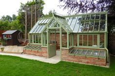 Photographs of our Victorian greenhouses Best Greenhouse, Backyard Greenhouse, Greenhouse Plans, Greenhouse Vegetables, Homemade Greenhouse, Greenhouse Wedding, Glass Green House, Glass House Garden, Glass Cabin