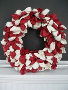 Valentine's Day wreath made from balloons.  Instructions included.