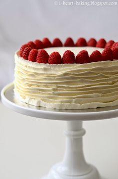 i heart baking!: japanese cheesecake with whipped cream and raspberries
