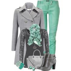 CharcoalMint, created by hollyhalverson on Polyvore