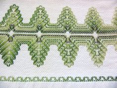 Your place to buy and sell all things handmade Swedish Embroidery, Towel Embroidery, Huck Towels, Tea Towels, Swedish Weaving Patterns, Monks Cloth, Hand Stitching, Needlework, Craft Projects