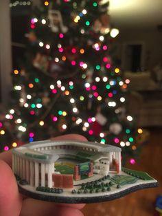 A 3-D printed McLane Stadium Christmas ornament! #SicEm