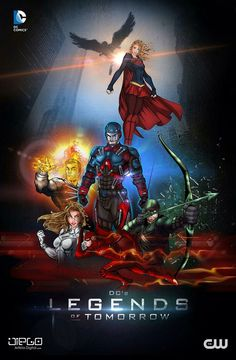 Welcome to the improved DC comics community. Here you can post all DC comics and related stuff. Legends Of Tomorrow Cast, Legends Of Tommorow, The Flash, Supergirl Crossover, Rock And Roll, Dc Tv Shows, Univers Dc, Arte Dc Comics, Supergirl And Flash