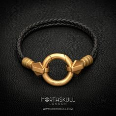 Atrek bracelet in black and brushed gold from Northskull's collection. The black and gold bracelet is a simple but classic look that suits all men. Black Bracelets, Bracelets For Men, Jewelry Bracelets, Gold Jewelry, Jewelery, Watches For Men, Men's Watches, Bracelet Designs, Bracelet Set
