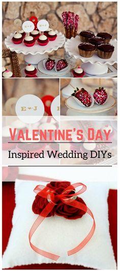 Valentine's Day-Inspired Wedding DIYs | Romantic, Fun & On A Budget Dessert Ideas, Crafts & Much More!