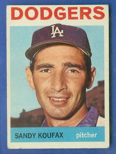 topps baseball cards | 1964 Topps #200 Sandy Koufax (Dodgers) Baseball cards value