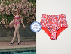 Cheryl Blossom wears these red floral-print high-waisted bikini bottoms on Riverdale Fashion Tv, Fashion Wear, Fashion Outfits, The Cw Tv Shows, Riverdale Fashion, Cheryl Blossom, High Waisted Bikini Bottoms, Red Aesthetic, Vogue