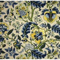 Imperial Dress Blue Home Decor Cotton Fabric by Waverly | Fabric Traders