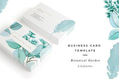 Botanical Garden I Business Card by Nordic.Arg on @creativemarket