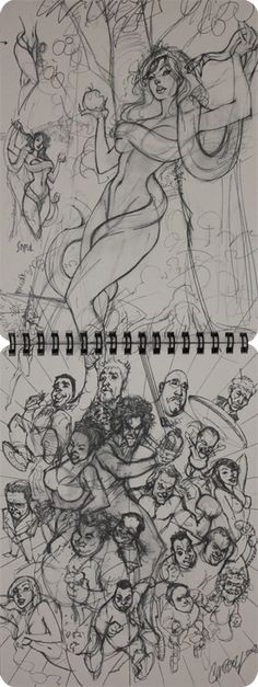 Comic books, movies, games blog everything related to fiction source Presented by LEAGUE OF FICTION: Jeff J. Scott Campbell Ruff Stuff Vol 2 Sketchbook Release