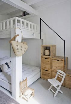decorating bedroom design ideas 2014. Stairs = Closet. I LOVE multifunctional !!