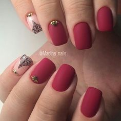 Cool beautiful nails. Red nails
