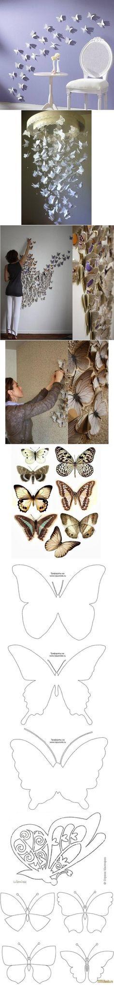Decora con mariposas. Moldes e imagenes para imprimir y recortar