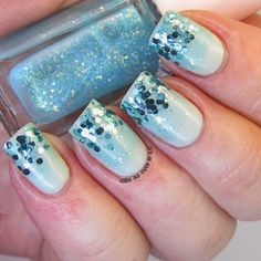 It's all about the polish: Juicy Cocktail Gradation Nails Mint Frappe aka Prom Nails take 2