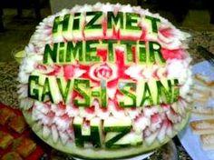 Hizmet nimettir Gavs-i Sani Hz karpuzu - Karpuz süsleme sanatı.