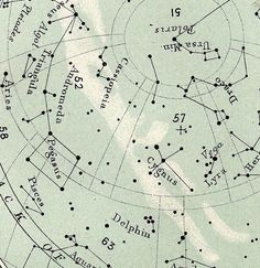 july antique star map celestial