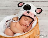 baby cow photo prop