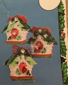 VINTAGE 1980 HOLIDAY INDUSTRIES CHRISTMAS Bird House ORNAMENT KIT NEW