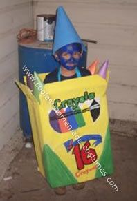 What Karl is going to wear at work!  Crayon Box Halloween Costume: I was lost this year on what to make my boy. I like top be different and I hate to spend money on a costume he will only wear once, so one day he was coloring