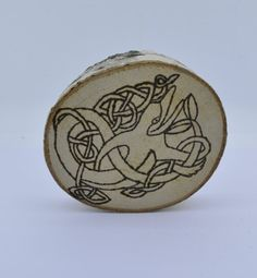 Wooden celtic coaster with a platypus. For by ArchdeansMagicShop
