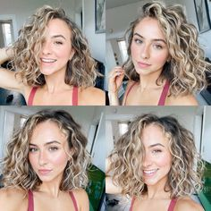 Haircuts For Curly Hair, Curly Hair Tips, Permed Hairstyles, Curly Hair Styles, Naturally Curly Haircuts, Naturally Wavy Hair, Natural Curly Hairstyles, Blonde Curly Hair Natural, Medium Length Curly Hairstyles