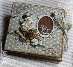 Купить Фотоальбом в романтическом стиле - фотоальбом, фотоальбом ручной работы, скрапальбом, скрапбукинг фотоальбом