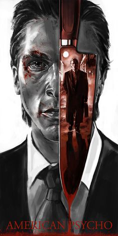 Horror Movie Art : American Psycho 2000 by Robert Bruno Horror Movie Posters, Cinema Posters, Movie Poster Art, Poster S, American Psycho Movie, Kino Film, Alternative Movie Posters, Film Serie, Cool Posters