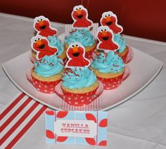 Lots of Elmo party ideas I love the aqua and red