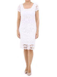 Vestido con Encaje color Blanco