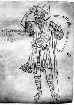 Self-portrait (?) of Villard de Honnecourt (about 1230) * Source: Sketchbook of Villard de Honnecourt