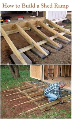 Shed ramp - How to Build a Shed Ramp the Right Way Shed ramp, Backyard storage . - Shed ramp – How to Build a Shed Ramp the Right Way Shed ramp, Backyard storage sheds, Shed stora - Petits Hangars, Shed Ramp, Push Lawn Mower, Shed Construction, Firewood Shed, Build Your Own Shed, Backyard Sheds, Backyard Storage Sheds, Garden Sheds